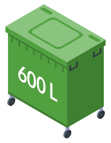 Minicontainer 600L