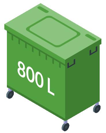 Minicontainer 800L