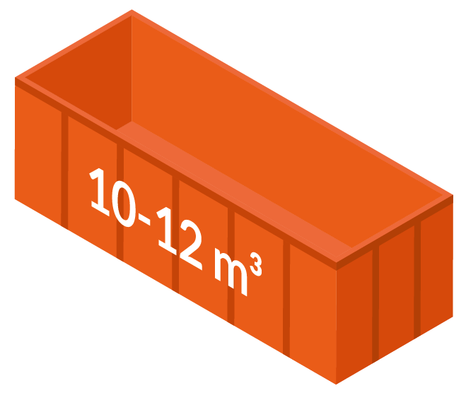 Stor container 10-12m3