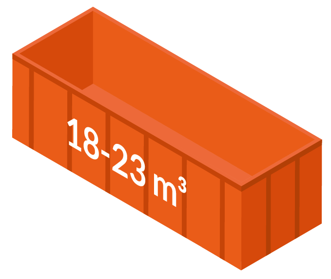 Stor container 18-23m3