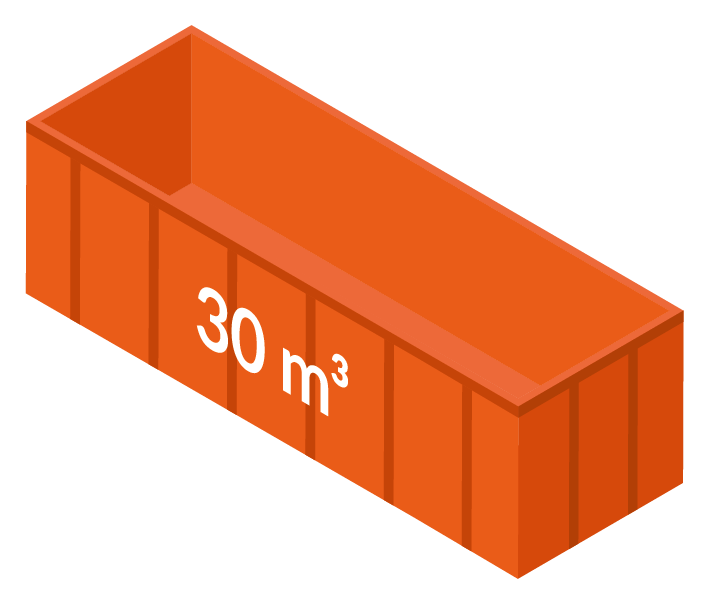 Stor container 30m3